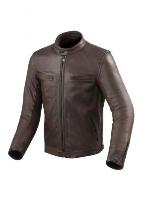 Motorcycle Brown Leather Jacket